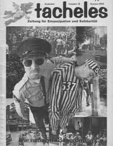 Im Jahre 2000 konnte durch ein Bündnis von Jugendstadtrat, Kirchen, Solinger Appell und sozialpolitisch Engagierten die von CDU und FDP beabsichtigte Verschärfung der Straßenordnung verhindert werden. Foto: tacheles Titel Nr. 18, Sommer 2000